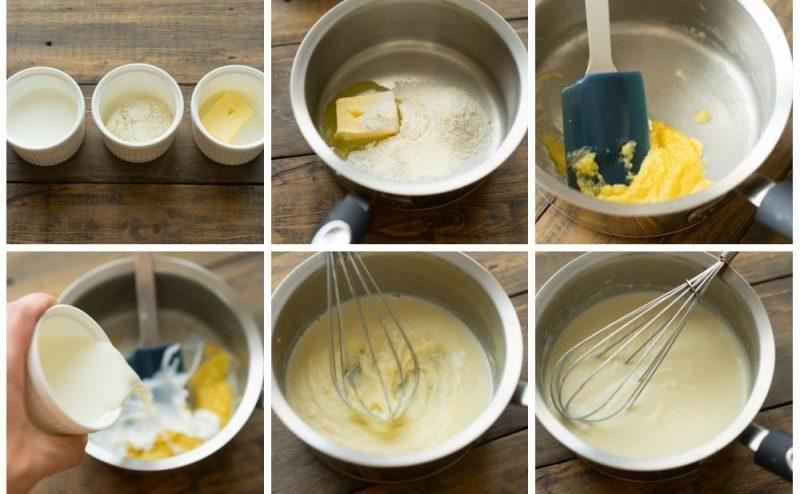 Пошаговая схема приготовления парового соуса