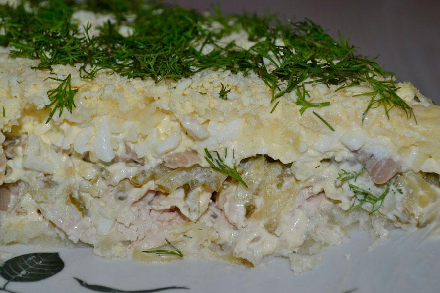 Топ 5 рецептов салатов из огурцов и яблок пошагово