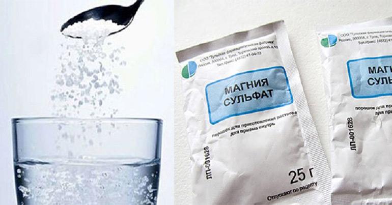 Очищение магнезией - свойства и действие препарата