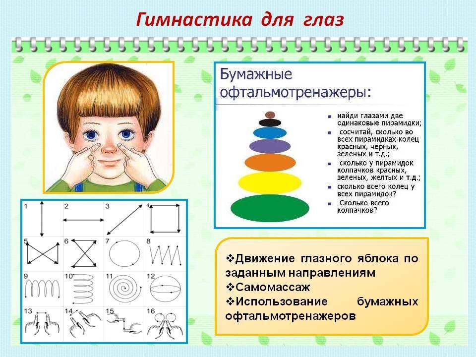 Упражнение для глаз картинки для детей