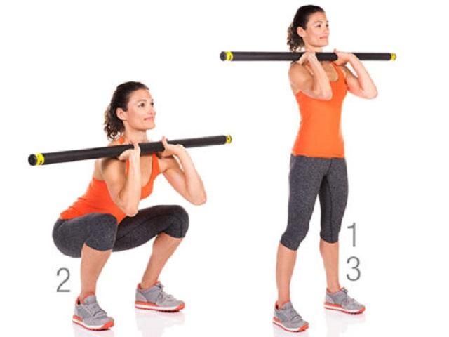 Упражнения с помощью палки для спины и для похудения