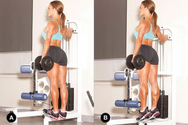 Упражнения для женщин с гантелями