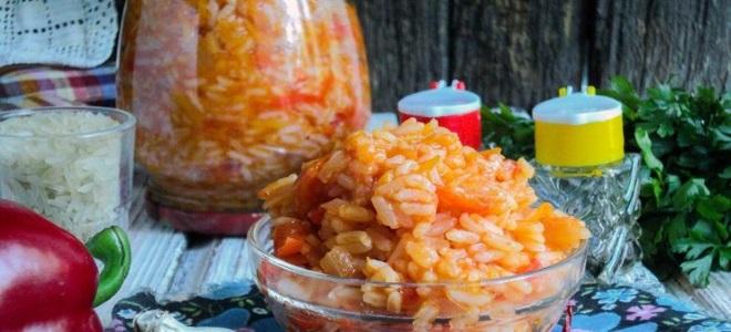 Лечо с рисом и болгарского перца