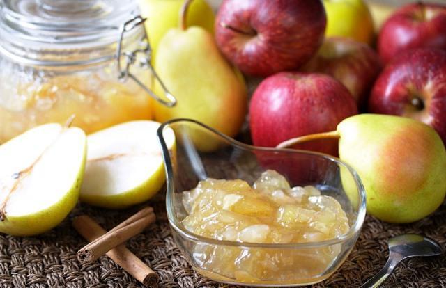 Яблоко груша варенье янтарное с лимоном, апельсином