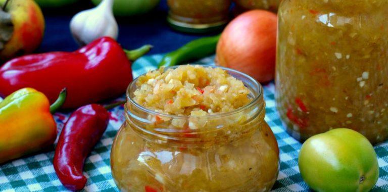 Аджика сладкая из помидор и перца на зиму