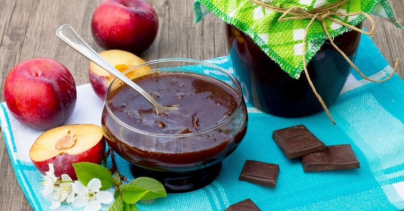 Необычные рецепты варенья из слив в шоколаде на зиму c добавками