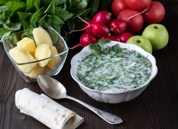 Как приготовить овдух - окрошка по-азербайджански