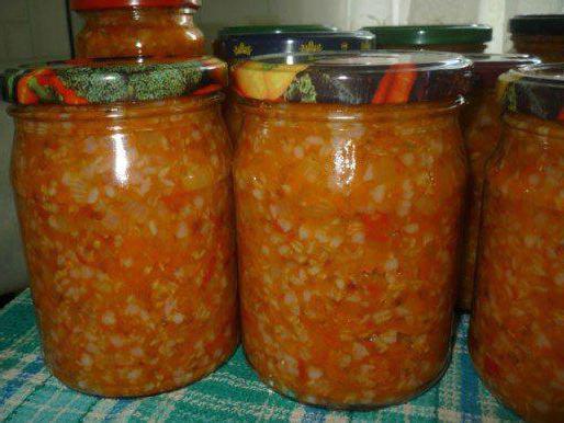 Готовим салат на зиму с гречкой и овощами
