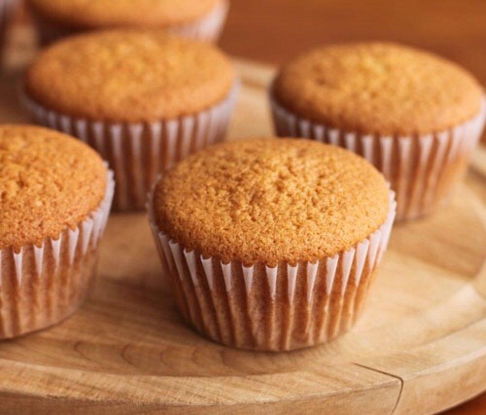 Вкусные и пышные творожные кексы к чаю
