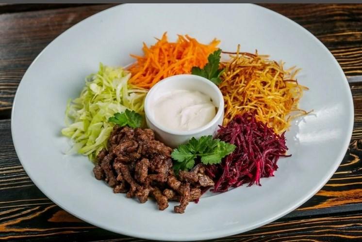 Как приготовить классический салат Чафан с мясом
