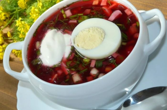 Борщ холодный классический - лучшие рецепты в домашних условиях