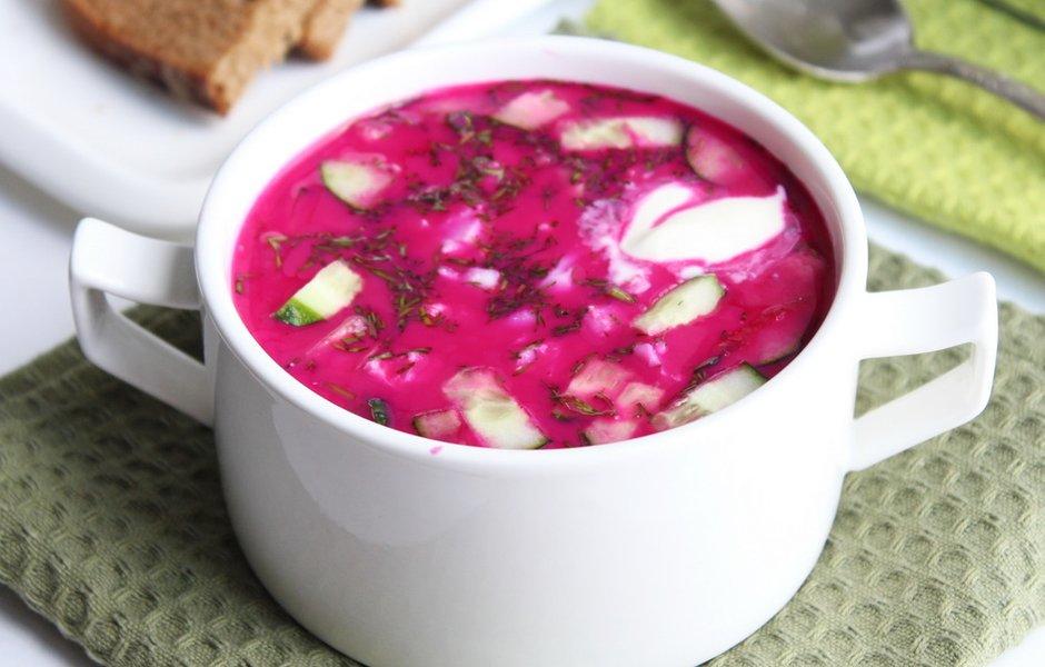 Готовим холодный суп Свекольник на кефире: рецепты пошагово с фото