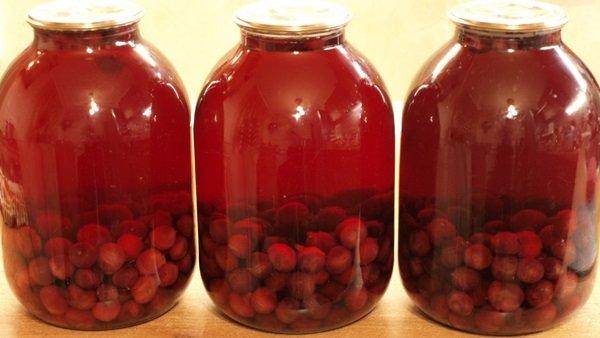 Как приготовить на зиму черешневый компот
