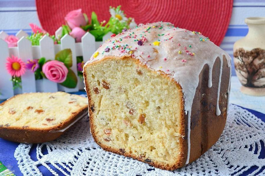 Как приготовить сладкий Пасхальный кулич в хлебопечке
