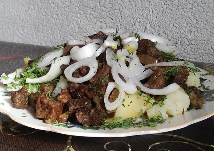 Как приготовить куырдак по-казахски с картошкой
