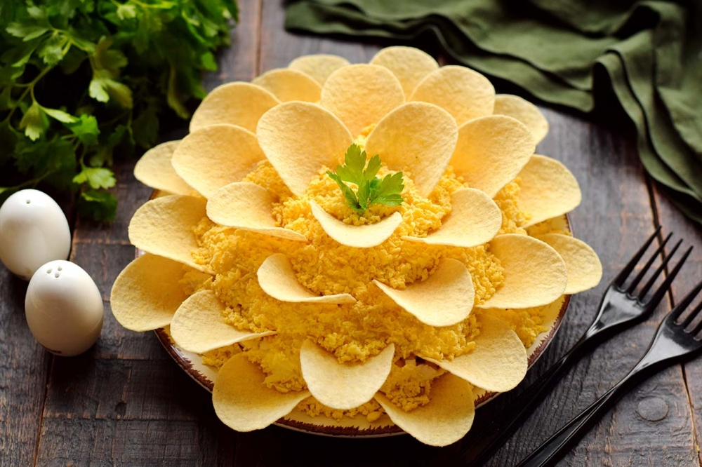 Классический рецепт салата Хризантема