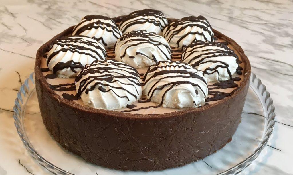Как сделать торт без выпечки из зефира со сметаной и фруктами