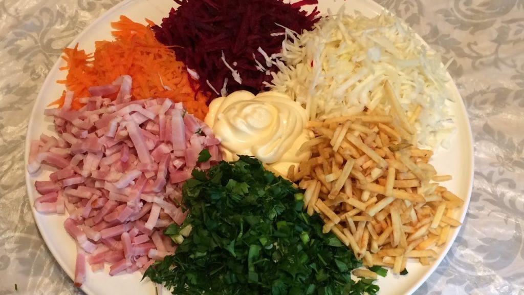 Готовим яркий и вкусный салат «Цветик семицветик»