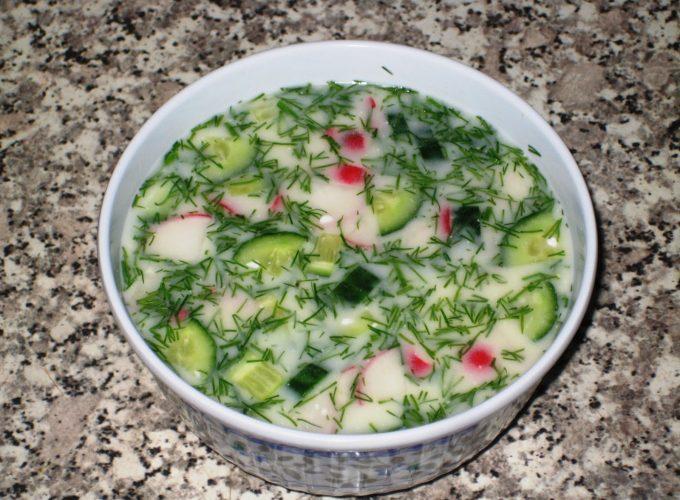 Рецепты пошаговые окрошки на кефире с минералкой
