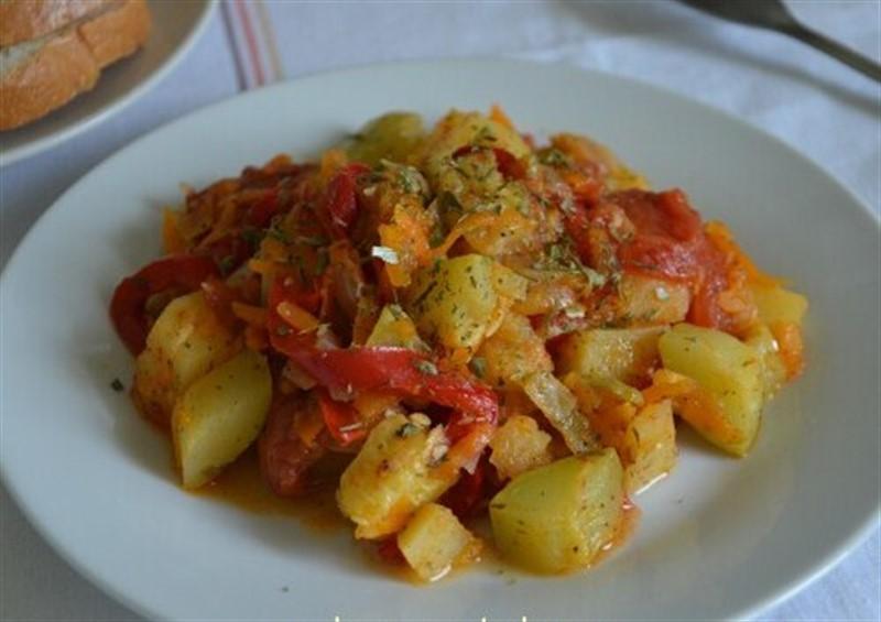 Готовим картофельное рагу на ужин с кабачками, с баклажанами, с мясом