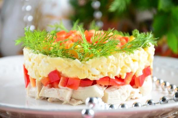 """Как приготовить праздничный салат """"Королевский"""""""