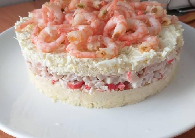 Пошаговые рецепты салатов с красной рыбой