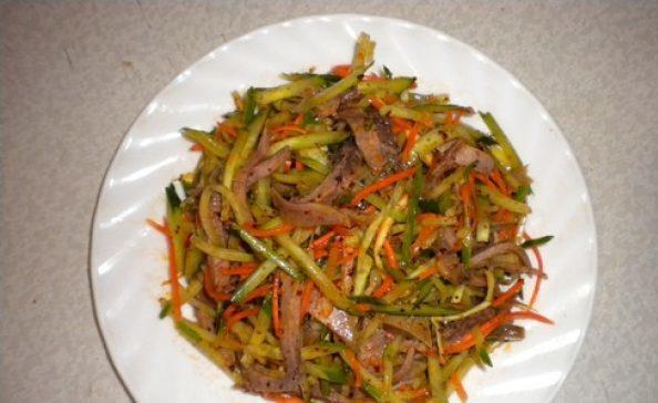 Готовим салат Людмила с ветчиной, грибами и курицей