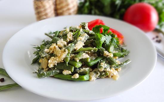 Зеленое лобио из стручковой фасоли с яйцом: рецепты пошагово