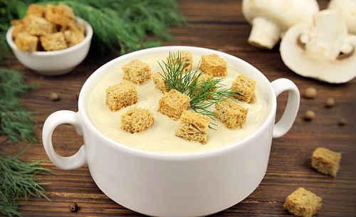 Как готовить суп пюре из шампиньонов со сливками