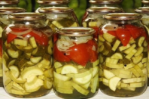 Рецепты заготовки салатов из цукини на зиму