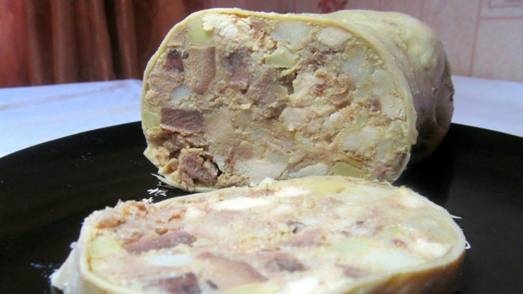 Сытный свиной желудок фаршированный рецепты приготовления